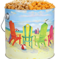Tri-Flavor, Beach Chairs, 3gal Tin